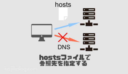 同一ドメインでのサーバー移転時に新しいサーバーを参照させる方法